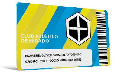 Tarjetas club deportivo