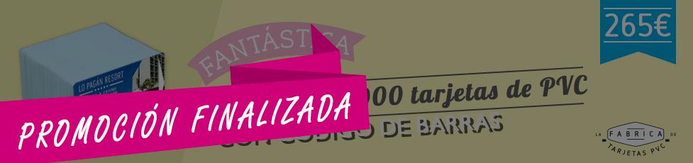 ¡Promoción de 2000 tarjetas con códigos de barras!