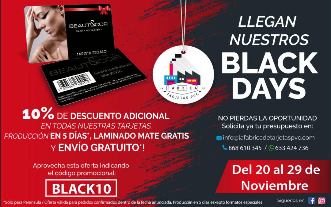 Los Black Days 2019 llegan a La Fabrica de Tarjetas Pvc